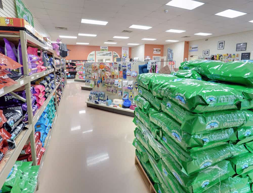Pet Food and Retail Area